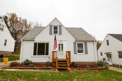 Wickliffe Single Family Home For Sale: 1920 East 290th St