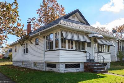 Euclid Single Family Home For Sale: 845 East 230th St