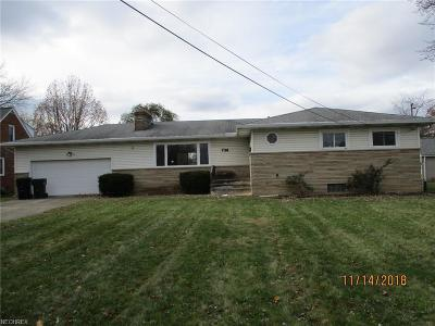 Elyria OH Single Family Home For Sale: $69,900
