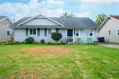 Sheffield Lake OH Single Family Home For Sale: $95,000