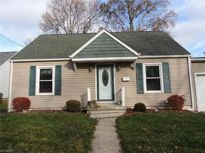 Rittman OH Single Family Home For Sale: $119,900
