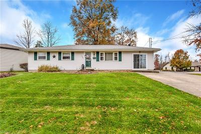 Austintown Single Family Home Active Under Contract: 1184 Idaho Road