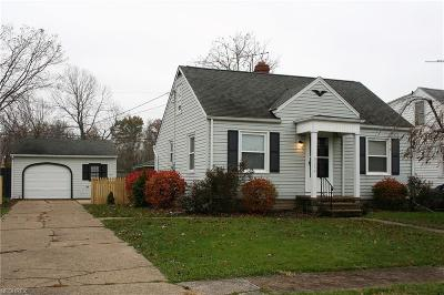 Lorain OH Single Family Home For Sale: $72,900