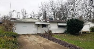 Grafton OH Single Family Home For Sale: $89,900