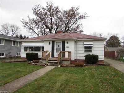 Elyria OH Single Family Home For Sale: $74,900