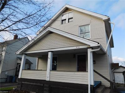 Girard Single Family Home For Auction: 210 East 2nd St
