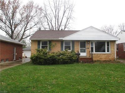 Wickliffe Single Family Home Active Under Contract: 1818 Rush Road