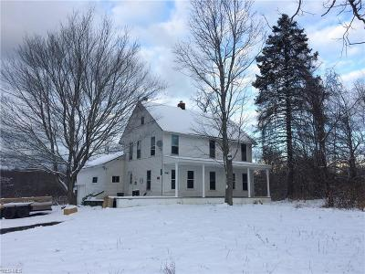 Ashtabula County Single Family Home For Sale: 4141 North Bend Rd