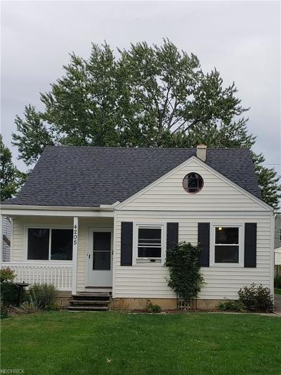 Fairview Park OH Single Family Home For Sale: $149,900