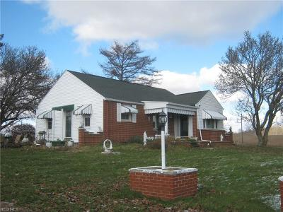 Muskingum County Single Family Home For Sale: 6375 Adamsville Rd