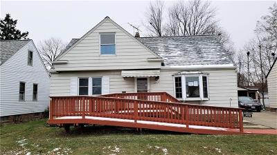 Willowick OH Single Family Home For Sale: $69,000