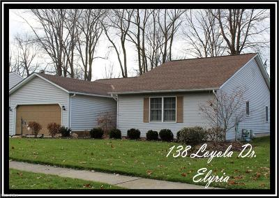 Elyria Single Family Home For Sale: 138 Loyola Dr