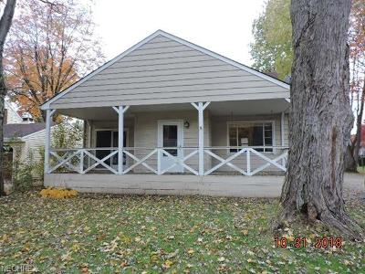 Hubbard OH Single Family Home For Sale: $64,900