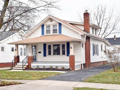 Rocky River Single Family Home For Sale: 19522 Shoreland Ave
