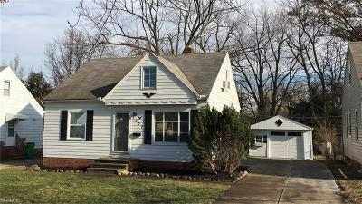 Mayfield Heights Single Family Home For Sale: 1377 Iroquois Ave