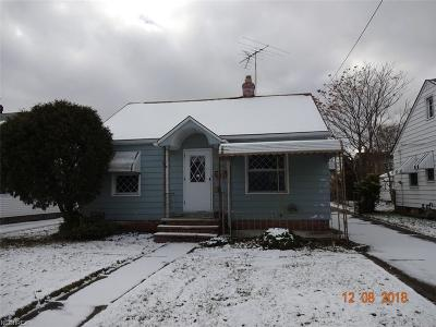 Willowick OH Single Family Home For Sale: $54,900