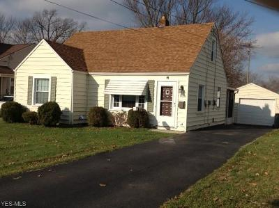 Youngstown Single Family Home For Sale: 1630 Meadowbrook Ave