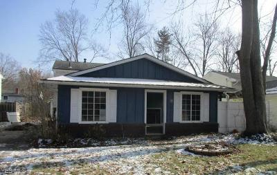 Columbia Station OH Single Family Home For Sale: $87,600
