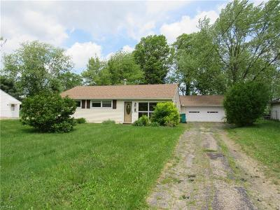 Twinsburg Single Family Home For Sale: 1887 Hillsdale Drive