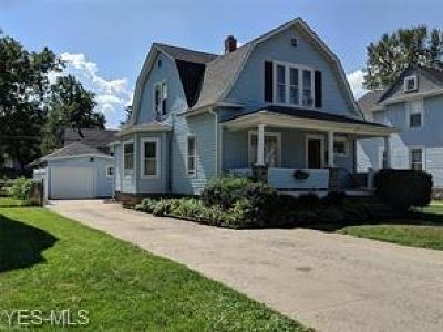 Ashtabula OH Single Family Home For Sale: $84,900