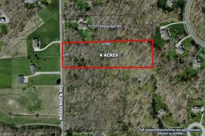 Geauga County Residential Lots & Land For Sale: 17505 Messenger Rd