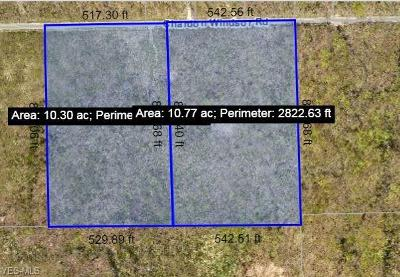 Geauga County Residential Lots & Land For Sale: 10 Ac Chardon Windsor