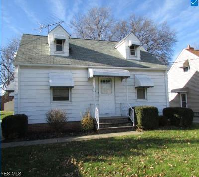 Euclid Single Family Home For Sale: 444 East 260th St