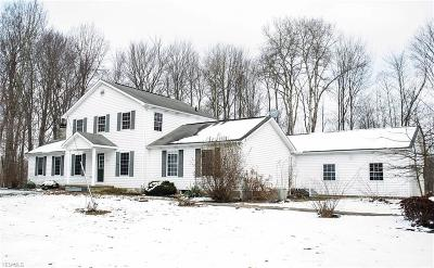 Ashtabula County Single Family Home For Sale: 1921 Beaver Dam Rd