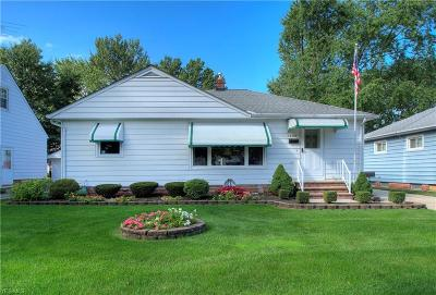 Wickliffe OH Single Family Home For Sale: $115,000