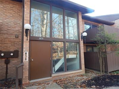 Brecksville Condo/Townhouse For Sale: 6875 Carriage Hill Drive #E61