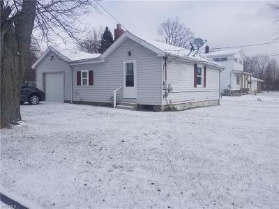 Ashtabula OH Single Family Home For Sale: $57,500