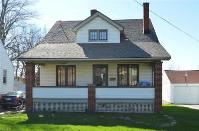 Youngstown Single Family Home For Sale: 7214 Claybourne Ave