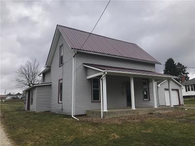 Carrollton OH Single Family Home For Sale: $55,000