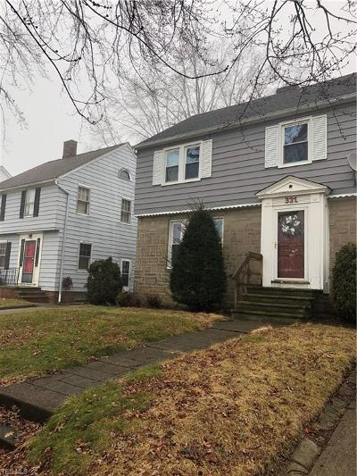 Euclid Single Family Home For Sale: 331 East 211th St