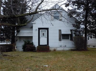 Euclid Single Family Home For Sale: 411 East 275th St