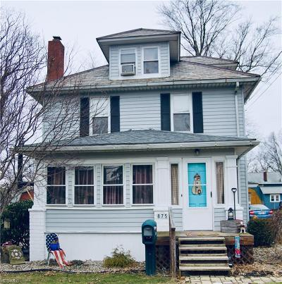 Single Family Home For Sale: 875 Hartshorn St