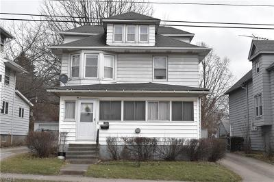 Akron OH Single Family Home For Sale: $69,900