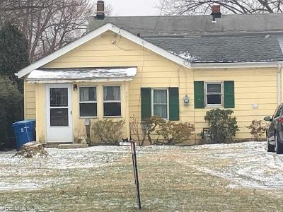 Painesville OH Single Family Home For Sale: $35,000