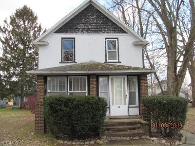 Medina County Single Family Home For Sale: 32 Warner St