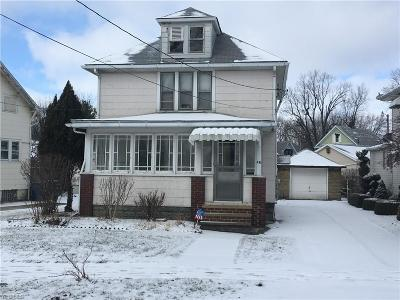Painesville OH Single Family Home For Sale: $74,000