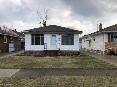 Cleveland OH Single Family Home For Sale: $119,000