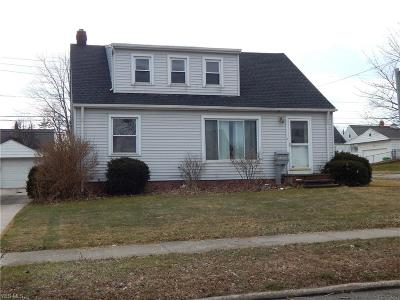Garfield Heights OH Single Family Home For Sale: $91,900