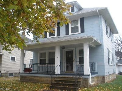 Lorain County Single Family Home For Sale: 458 Oxford Ave