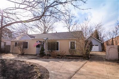 Rocky River Single Family Home For Sale: 780 Bates Rd