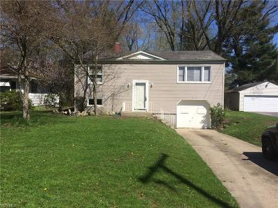 Boardman OH Single Family Home For Sale: $65,900