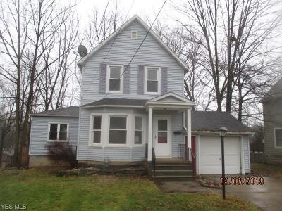 Elyria Single Family Home Active Under Contract: 1119 E River Street