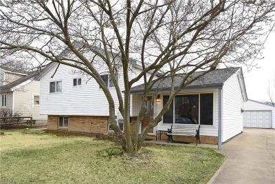 Elyria Single Family Home For Sale: 833 Rosewood Dr