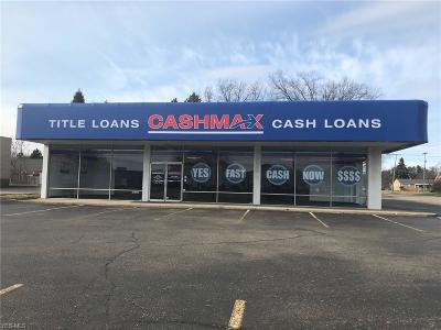 Canton Commercial For Sale: 4613 Tuscarawas St West
