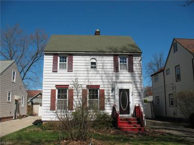 Cleveland OH Single Family Home For Sale: $65,000