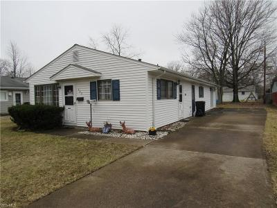 Elyria OH Single Family Home For Sale: $85,000
